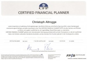 CFP-Zertifikat von Christoph Altrogge