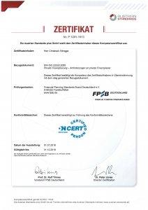 DIN ISO 22222:2005 Zertifikat